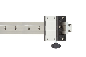 drylin® T linear guide, complete system, carriage with clamp and manual clearance adjustment