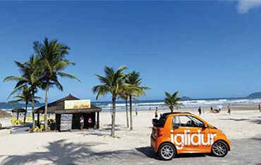 iglidur on tour Smart at the beach in Brazil