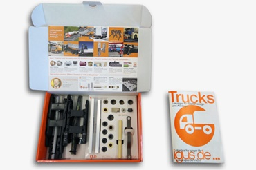 Sample box for utility vehicles